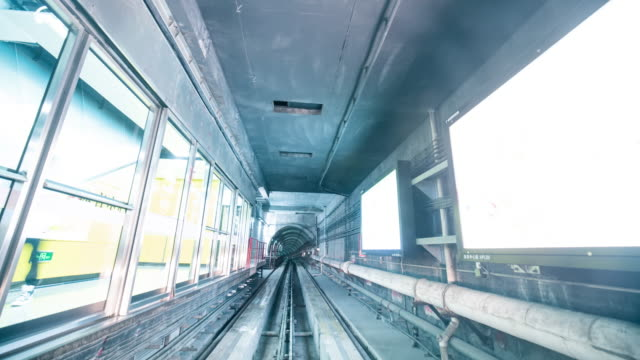 t/l ws pov train travelling through the tunnel - pipeline stock videos & royalty-free footage