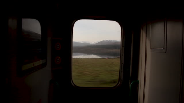 train window highlands - scotland stock videos & royalty-free footage