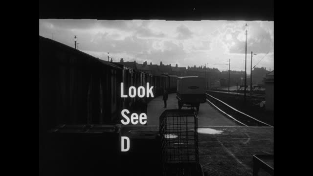 train yard, end title - british rail stock videos & royalty-free footage