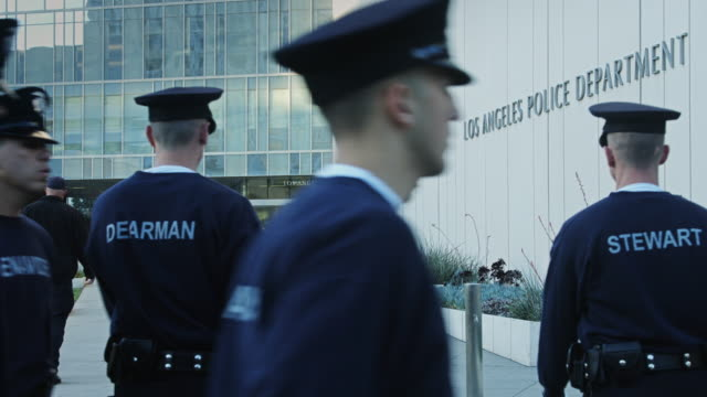 lapd trainees on parade - los angeles police department stock videos & royalty-free footage