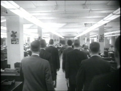 trainees walk into an office of the federal bureau of investigation. - fbi stock videos & royalty-free footage