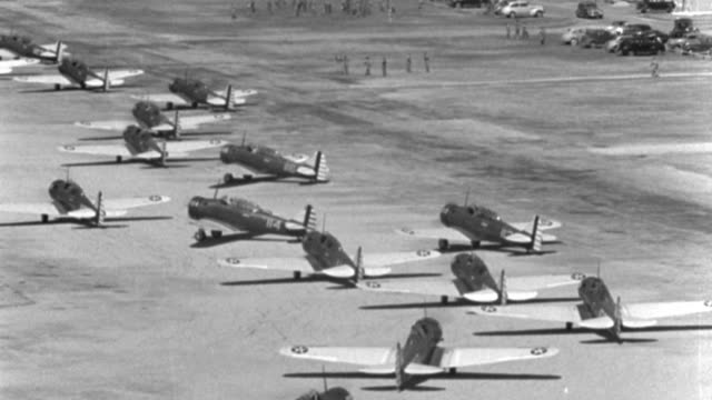 wwii trainer aircraft taxi and line up at kelly air force base. - military training stock videos & royalty-free footage