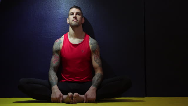 trainer meditating - darlington north east england stock videos & royalty-free footage
