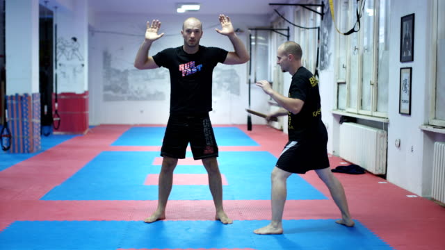 training class about self-defence - military fitness stock videos and b-roll footage
