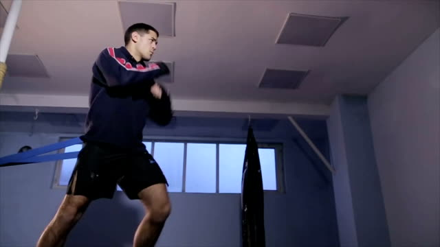 training for mma fight - cinemanis videography stock videos & royalty-free footage