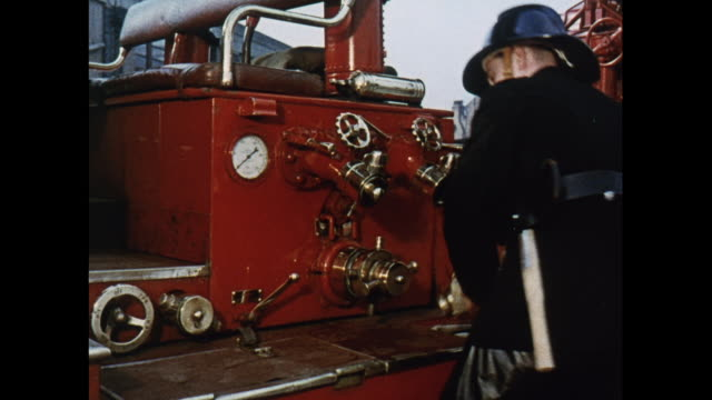 montage training members of london's fire brigade - brigade stock videos and b-roll footage