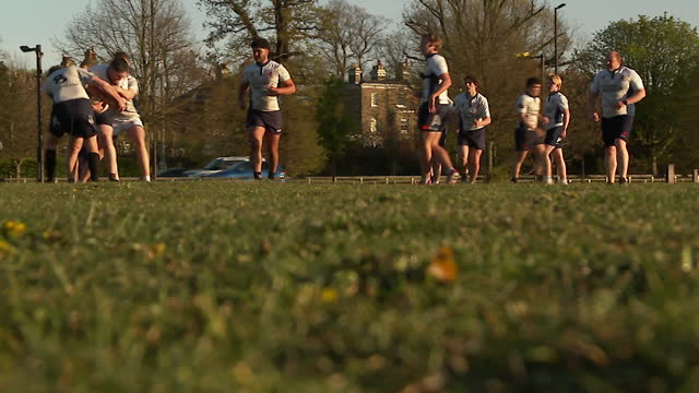 training session of amateur rugby team, london scottish lions - アマチュア選手点の映像素材/bロール
