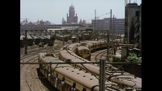 stockvideo's en b-roll-footage met montage trains and power lines in bhopal / india - bhopal