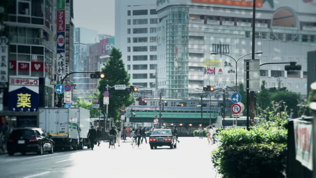 Trains and Traffic in Shinjuku
