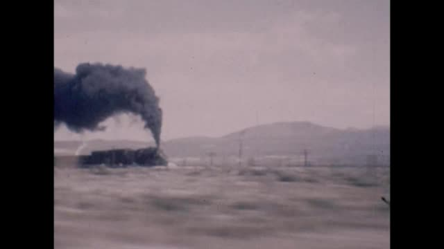 1947 trains in the desert - rail transportation stock videos and b-roll footage
