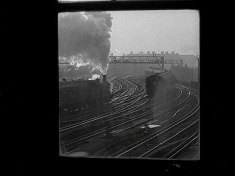 trains move past the signal box at waterloo station. - signal box stock videos & royalty-free footage