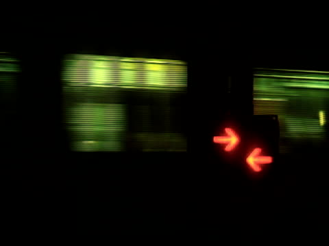 trains pass railroad crossing night time - raf stock videos & royalty-free footage