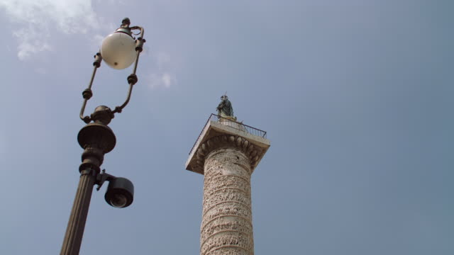 MS Trajan's Column against blue sky / Rome, Italy