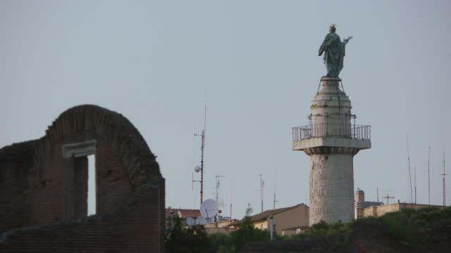 WS Trajan's Column against sky / Rome, Italy