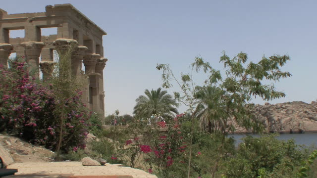 WS PAN Trajan's Kiosk and Nile, Aswan, Egypt