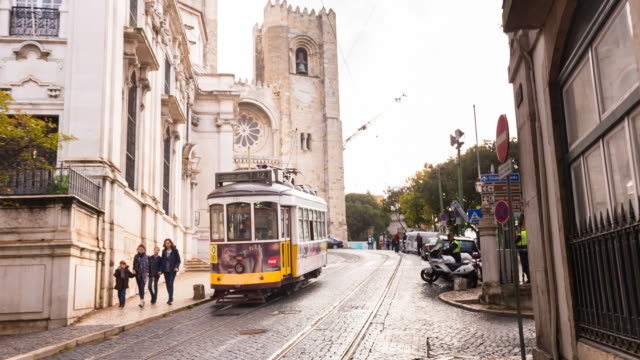 MS Tram at Lisbon Sé Cathedral