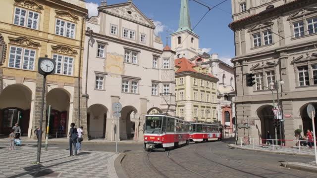 Tram in Castle District, Prague, Czech Republic, Europe