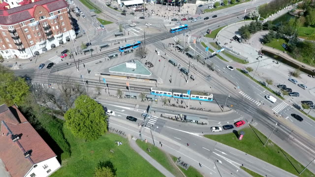 tram in gothenburg - tram stock videos & royalty-free footage
