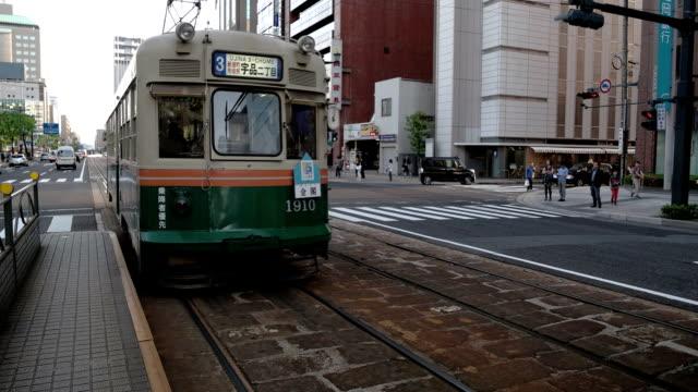 vídeos y material grabado en eventos de stock de tranvía de hiroshima. - hiroshima prefecture