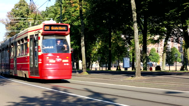 tram in the hague - the hague stock videos and b-roll footage