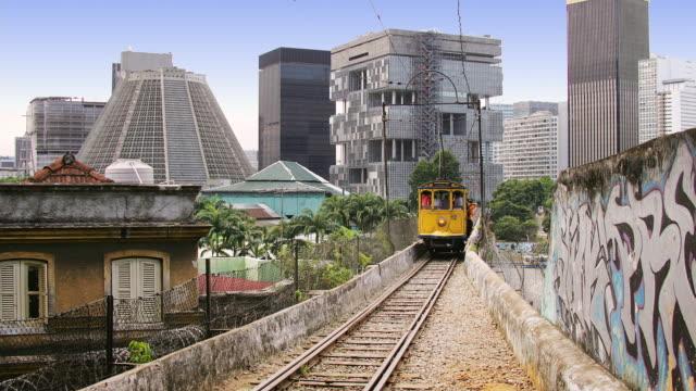 T/L, MS, Tram on Carioca Aqueduct, Rio de Janeiro, Brazil