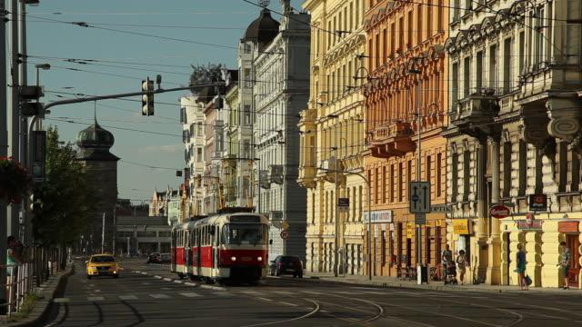 WS Tram on street in old town / Prague, Czech Republic