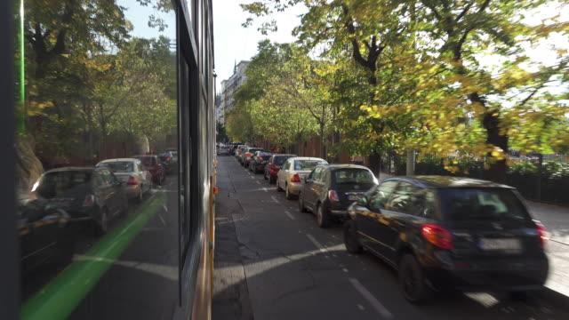 tram point of view - tram point of view stock videos and b-roll footage
