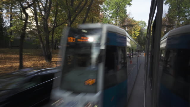 tram public transportation at krakow - tram point of view stock videos and b-roll footage