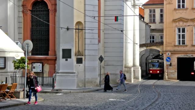 tram - prague stock videos & royalty-free footage
