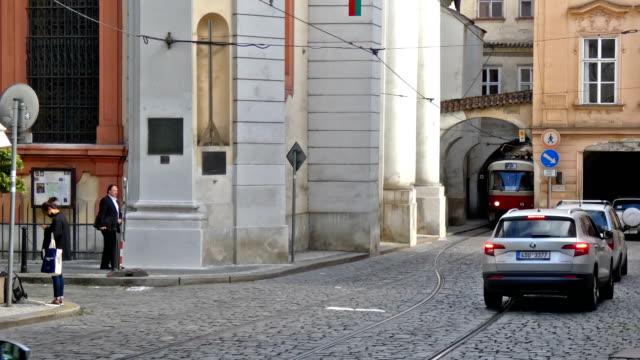 tram - stare mesto stock videos & royalty-free footage