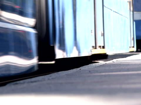 A tramcar in Gothenburg Sweden.