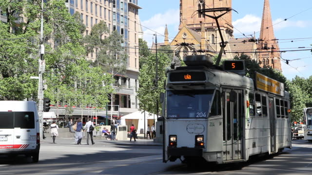 m/s trams exterior - tram stock videos & royalty-free footage