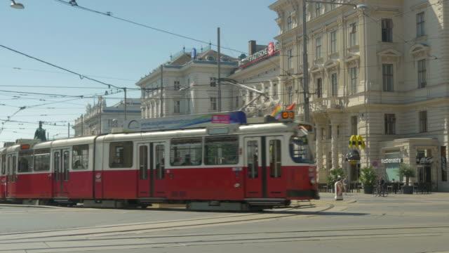 trams near stadtpark - vienna austria stock videos & royalty-free footage