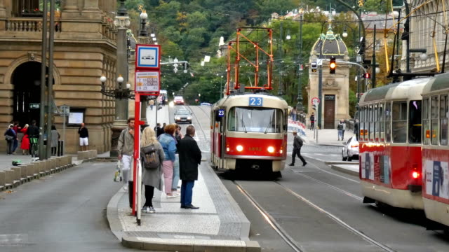 trams - stare mesto stock videos & royalty-free footage