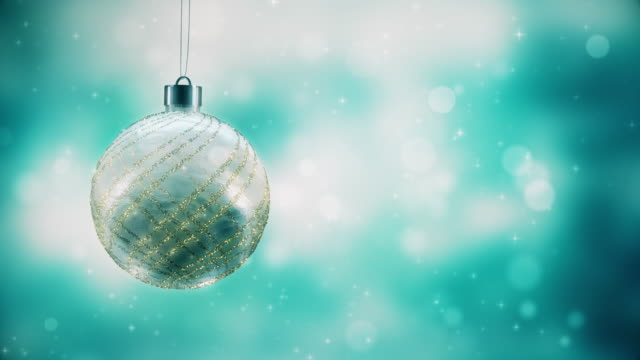 tranclucent christmas ball - silver coloured stock videos & royalty-free footage