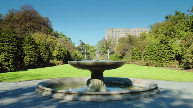 tranquil fountain in brooklyn botanical garden - botanical garden stock videos & royalty-free footage