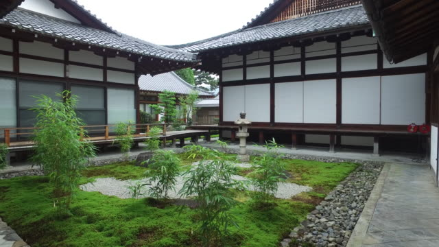 tranquil garden of a japanese temple - oriental garden stock videos and b-roll footage