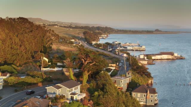 Tranquil Scene in Bodega Bay, CA at Sunset - Drone Shot