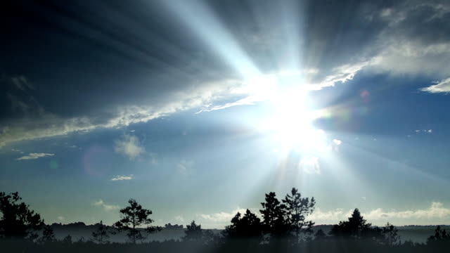 tranquil time-lapse scenery - clouds and sun beams - hope stock videos and b-roll footage