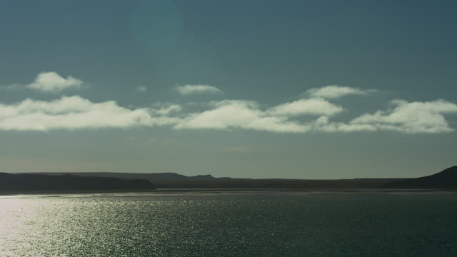 tranquil view of franklin bay canada - northwest passage stock videos and b-roll footage