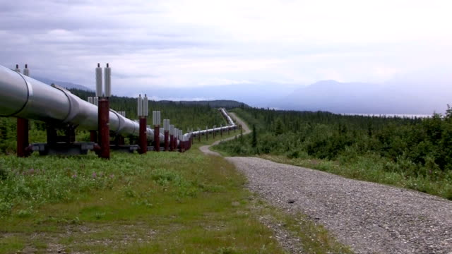 trans-alaskan pipeline - pipeline stock videos and b-roll footage