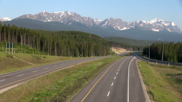 ms transcanada highway 1 near banff national park / lake louise, alberta, canada - canada stock videos & royalty-free footage