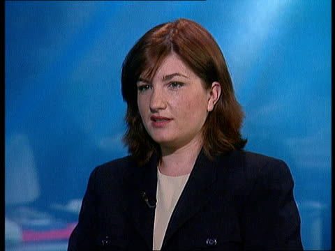 england london itn cms karren brady intvw sot took job on because of challenge/ birmingham city was in need of a complete overhaul/ it was difficult... - カレン ブラディ点の映像素材/bロール