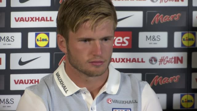 transfer window comes to close eric dier at press conference eric dier press conference sot - transfer stock videos and b-roll footage
