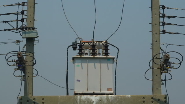 transformer on the pole - pole stock videos & royalty-free footage