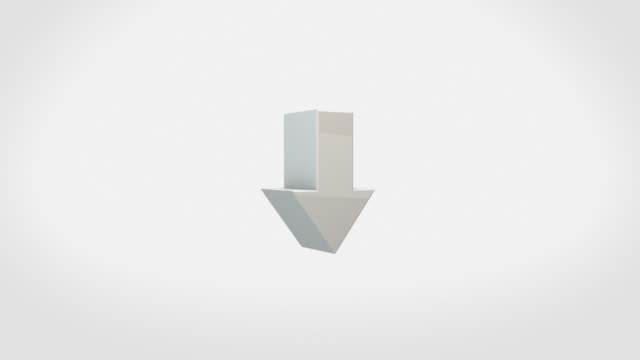 Transforming 3D Symbol Animation - DOWN / UP Arrow (With Luma/Alpha)