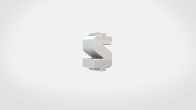 transforming 3d symbols animation - dollar signs (with luma/alpha) - man made object stock videos & royalty-free footage