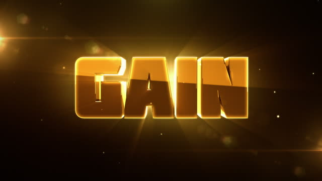 transforming 3d words animations with lighting - loss to gain - single word stock videos & royalty-free footage