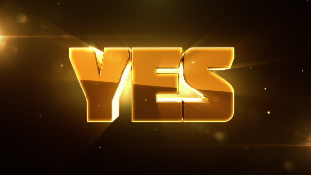 transforming 3d words animations with lighting - no to yes - yes single word stock videos & royalty-free footage