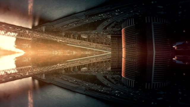 transforming city background. mirror kaleidoscope effect - kaleidoscope pattern stock videos & royalty-free footage